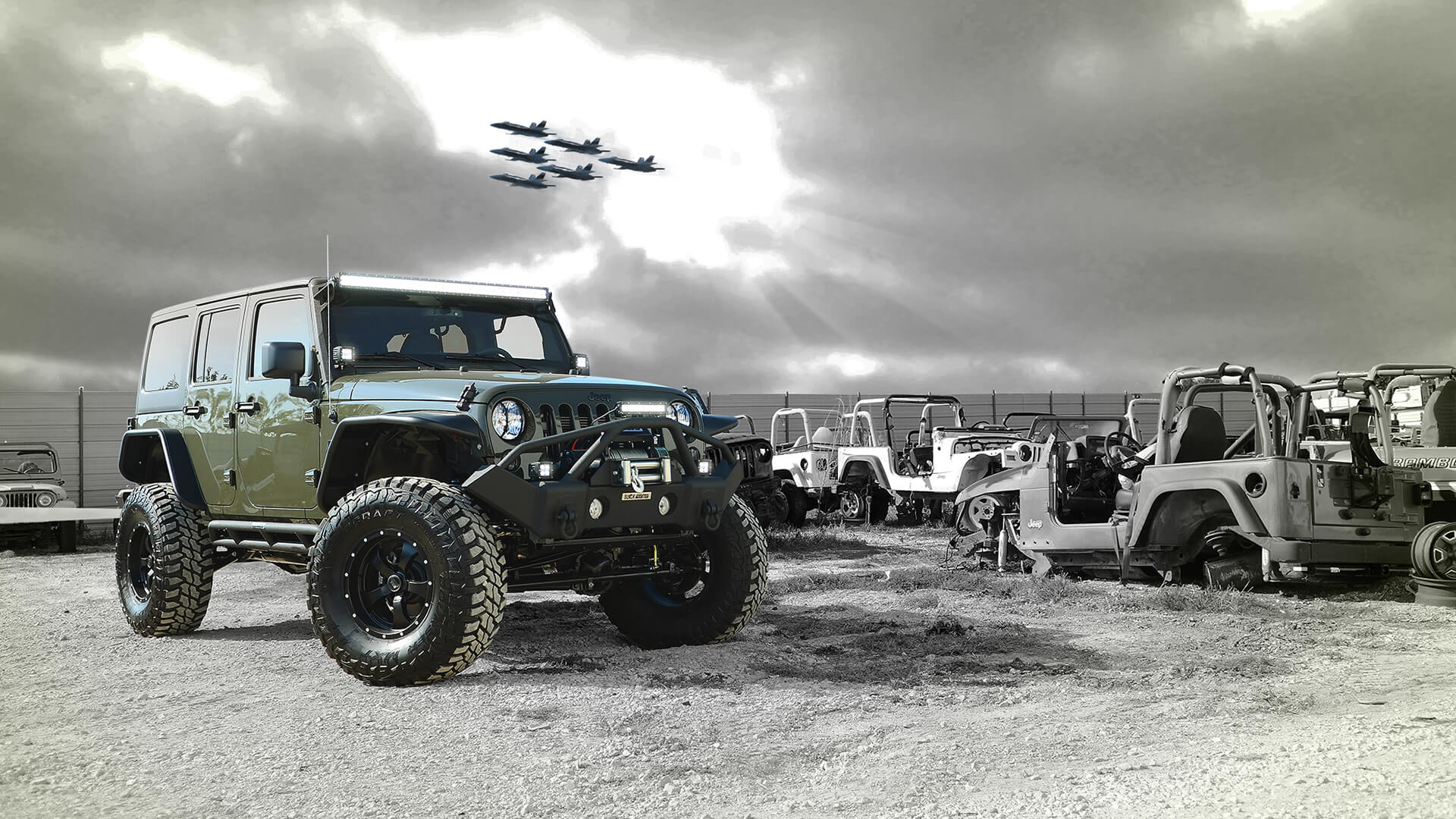 Levrack featured with Collins Brothers Jeep