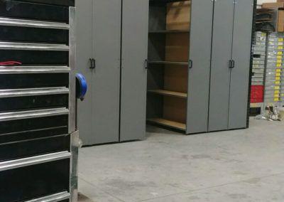 Levrack 12 foot with pallet rack storage above